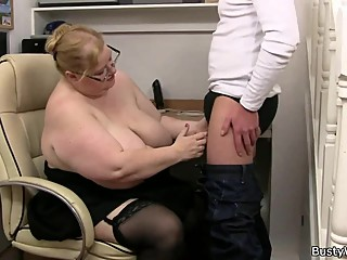 Doggystyling Huge Titted Secretary on..