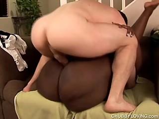 Beautiful big booty black BBW fucks a..