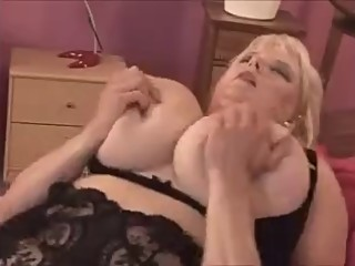 Mom with incredibly huge real boobs..