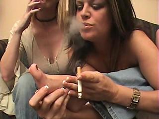 Lesbians BBW MILF Smoking Fetish